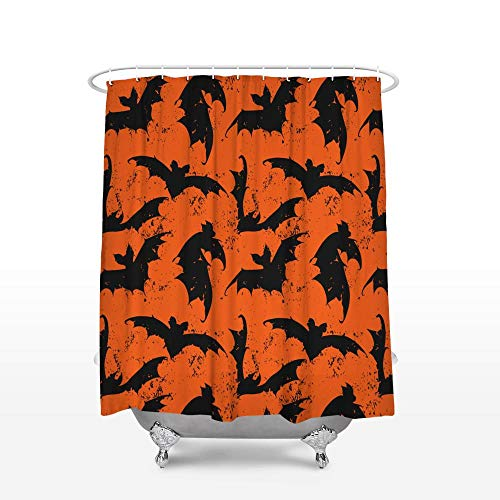 cortinas de baño naranja