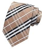 MENDENG Weihnachts-Krawatte für Herren, für Hochzeit, Party, Urlaub, Geschäft - Braun - Einheitsgröße