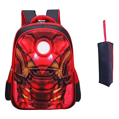 3D anime Kids backpack Primary schoolbag super hero Iron man bookbag for boys