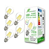 5x Lampadina a filamento LED greenandco® IRC 90+ dimmerabile E27 8W (equivalente 54W) 710...