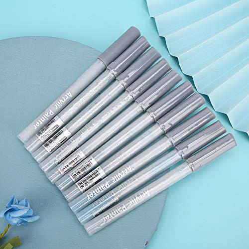 Bolígrafo para manualidades, pintor acrílico, poco olor, punta de lápiz de 0.08-0.12in,(Cool Gray CG05)