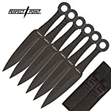 Perfect Point 6 Piece Ninja Assassin Kunai Throwers - 9' Throwing Knives