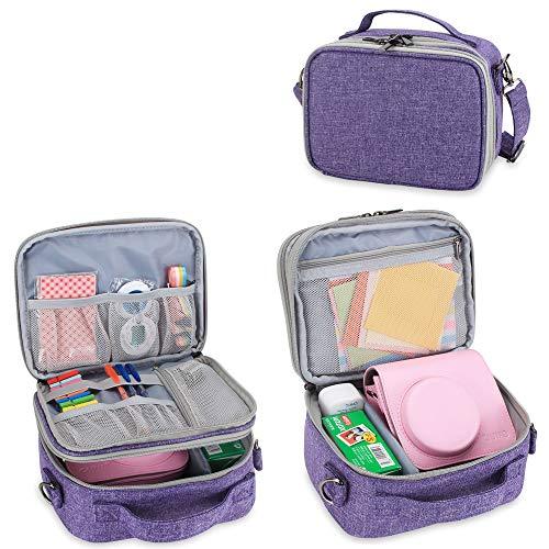 Teamoy Reisetasche Kompaktkamera Taschen für fujifilm instax Mini 9 und Mini 8, Sofortbildkamera Tasche für die Mitnahme von fujifilm instax Mini 9 und Kamera Zubehör, Lila