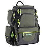 SeaKnight Waterproof Outdoor Tackle Bag Multi-Tackle Large Backpack Double Shoulder Fishing Tackle Multifunctional Bags for Camping Hiking Cycling (Green-7.5L Without Trays)