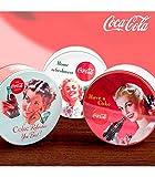 Genérico - Caja vintage metálica circular coca-cola