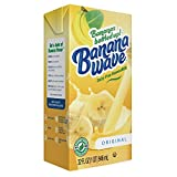 Banana Wave Dairy Free Banana Milk, blended superfood beverage with potassium and omega-3, all natural (case of 12)