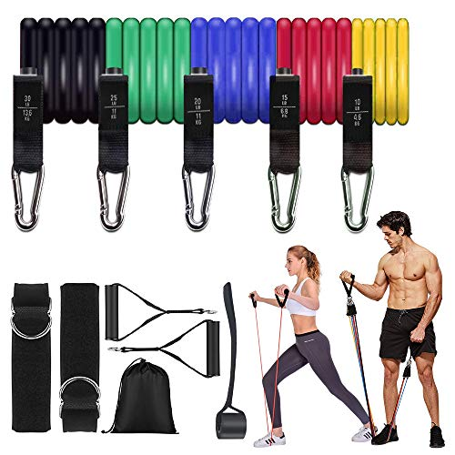 Evershop Resistance Bands Set, 12pcs Exercise Fitness Bands with 5 Workout Resistance Tube...