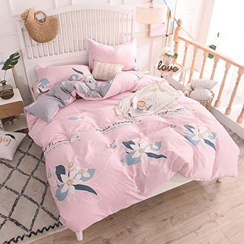 Cotton Quilt Cover Bed Sheet Pillowcase 48X74CMX2 Bedding 4-piece Set Double Duvet Covers,L-queen:200X230CM.Sheet:200X230CM(1.5/1.8m.bed)