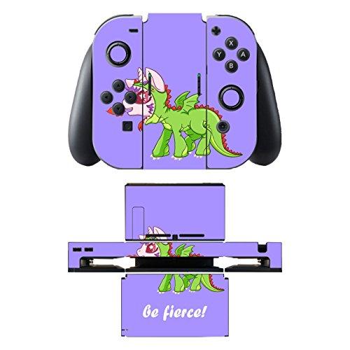 'pellicola DISAGU SF SDI 5542_ 830Design Skin/per Nintendo Switch/Controller/Docking station–Motivo'unicorno Drago viola trasparente