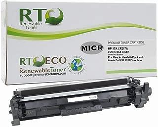 Renewable Toner Compatible MICR Toner Cartridge Replacement for HP CF217A 17A Laserjet Pro M102, MFP M130