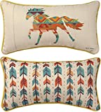Manual Woodworkers SHSVHR Southwestern Vibes Horse Throw Pillow, 17 x 9 inch, Multicolor