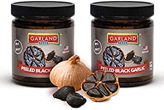 Garland Food PEELED Black Garlic 142 grams - Premium product of Spain - NON-GMO - Aged for 90 days - IMMUNE BOOSTER