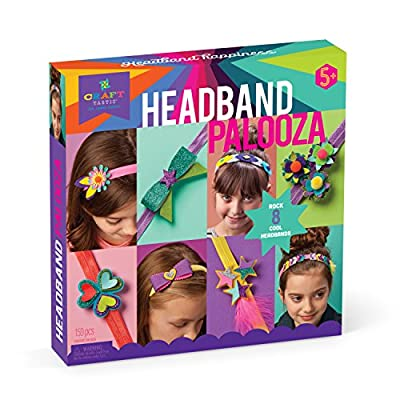 Craft-tastic – Headband Palooza Kit – Craft Kit Includes 8 Headbands and Materials to Customize and Make Them