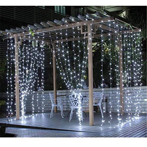 De interior y al aire libre Festival de las luces, decorativo Lig 304LED Blanco Fiesta de luz blanca cálida decoración de la secuencia de cortina de luz de la lámpara Inicio Hada nos enchufe AC220V 3M