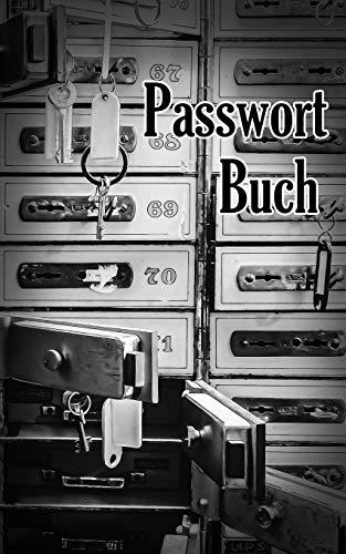 Passwort Buch: Kleiner Passwort Organizer mit alphabetischen Register zum schnellen Finden der Zugangsdaten für Webseiten, Apps, Email Adressen und ... für Mutter, Vater, Oma und Opa. Bankfächer.