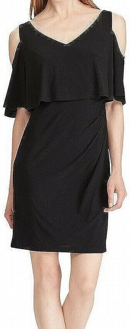 American Living Womens Popover Cold Shoulder Cocktail Dress
