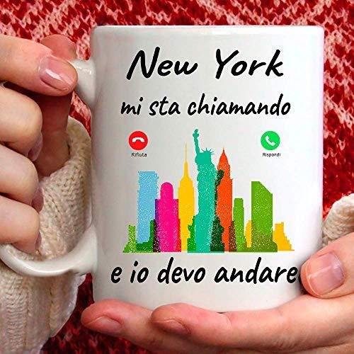 Taza New York Mi Sta llamando y yo debo Andare. Gadget regalo Mug para Chi AMA New York.