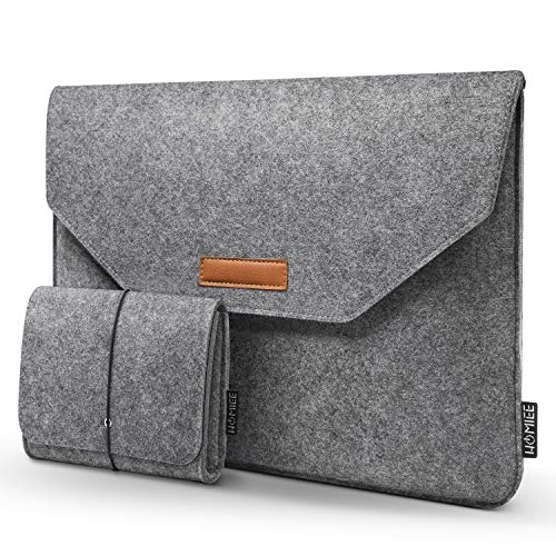 Laptop Sleeve, HOMIEE 13-13.3 inch Laptop Bag with Extra Storage Bag and Mouse Pad for MacBook Air Pro Dell/Lenovo/HP/Chromebook, 13.3 Inch Notebook Laptop Case Protector Bag (Light Gray)