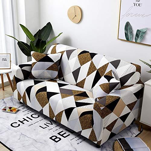 WXQY Fundas de sofá elásticas geométricas Fundas de sofá elásticas para Sala de Estar Protector de Muebles sofá Toalla Funda de sofá A25 4 plazas