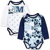 Disney - Body - para bebé niña Azul Mickey Mouse - a Pattern 0-3 Meses (Tamaño...