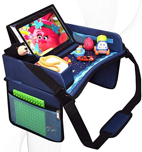 DMoose Kids Travel Tray Toddler Car Seat Lap Activity Tray with Padded Comfort Base Side Walls product image