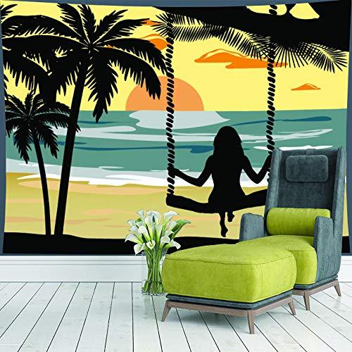 HNFY Utilizado en dormitorio, sala de estar o dormitorio, Fantástico tapiz de árboles forestales, orilla Visión 3D, paisaje natural,_180cm*300cm