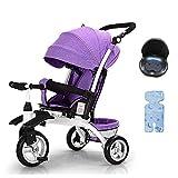 YGB Nuevo Triciclo Triciclo Triciclo Triciclo, Triciclo Multiusos para niños, Rueda de Espuma EVA, Triciclo para bebé de 1 a 6 años, 3 Colores, 55 x 92 cm