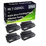 Paquete de 4 cartuchos de impresora compatibles con MLT-D2082L de alto rendimiento para Samsung SCX-5635FN SCX-5835FN