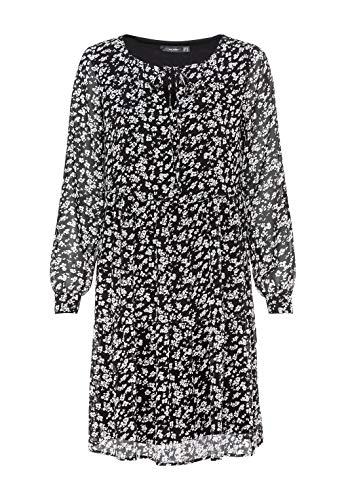HALLHUBER Hängerkleid mit Millefleurs-Print weit geschnitten schwarz, 40