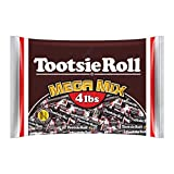 Tootsie Roll Tootsie Roll Mega Mix, 5 Different Shapes and Sizes of Classic Chocolatey Tootsie Rolls, 4 Pound