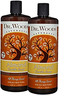 Dr. Woods Pure Almond Liquid Castile Soap, 32 Ounce (Pack of 2)