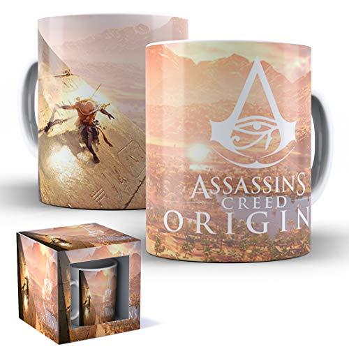 Caneca de Porcelana com Caixinha Presente Assassin's Creed Origins mod.33