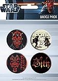 GB Posters The Dastardly Darth Maul de Star Wars - Pack de pegatinas de película