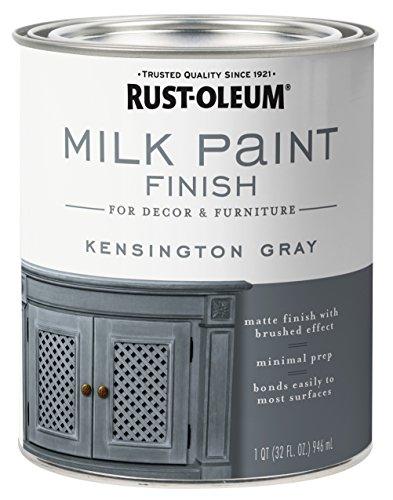 Rust-Oleum 331053 Milk Paint Finish, Quart, Kensington Gray