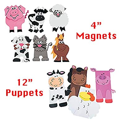 Farm Animal Arts and Crafts Bundle, 10 All-Inclusive DIY Barnyard Craft Projects for Kids - Homeschool, Daycare, Preschool, Early Learning Resources, Party Supplies - Toys and Novelty Educational Toys from Learning Toys 4 You