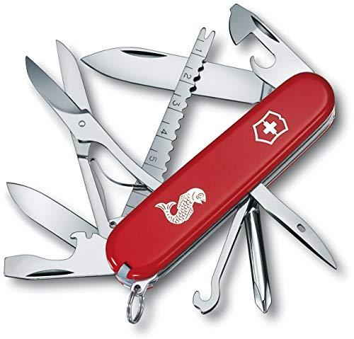 Victorinox Taschenmesser Fisherman (18 Funktionen, Klinge, Fischentschupper, Schere) rot