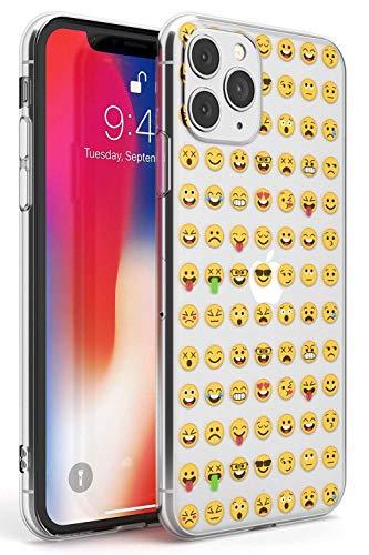 Claro Patrón Emoji Funda de Teléfono de Goma Slim Cover para iPhone 11 Pro Emoticon Emojis Linda Gracioso Teclado