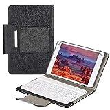 QYiD Custodia Protettiva Universale 7-8' Tablet, Custodia in Pelle con Tastiera Bluetooth per Tablet da 7-8 Pollici (Samsung Tab, iPad Mini, Fire 7-8,Lenovo Tab E7 7',MediaPad M5 Lite 8'), Nero