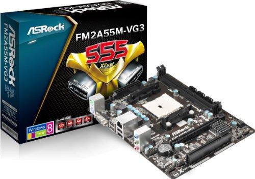 ASRock FM2A55M-VG3 - Placa Base (DDR3-SDRAM, DIMM, Dual, AMD, AMD A, Socket FM2)