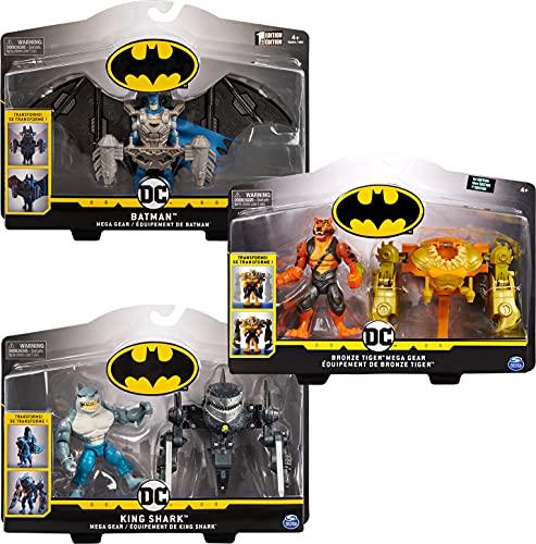 Batman 10cm Actionfigur mit transformierbarer Mega-Gear-Rüstung - Sortierung mit unterschiedlichen Varianten