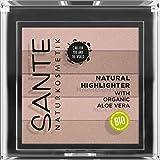 SANTE Naturkosmetik Natural Highlighter 01 Nude, Fünf Pudernuancen, Bio-Extrakte & Macadamiaöl, Natural Make-up, Vegan, 7g
