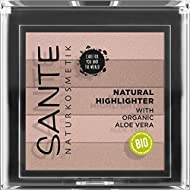 SANTE Naturkosmetik Natural Highlighter 01 Nude, Bronzer, with Light-reflecting Shimmer Pigments for...