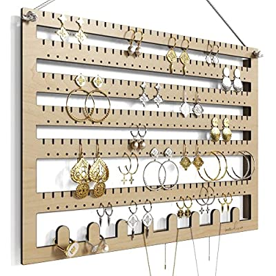 Amazon - 15% Off on Wooden Hanging Ring, Necklace and Earring Organizer
