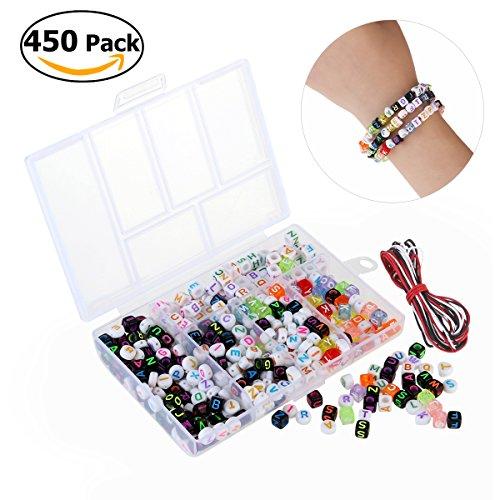 WINOMO WINOMO 450pcs acrylique perles bijoux BRICOLAGE jouet pour enfants Collier / Bracelet artisanat jouets éducatifs BRICOLAGE perles enfants