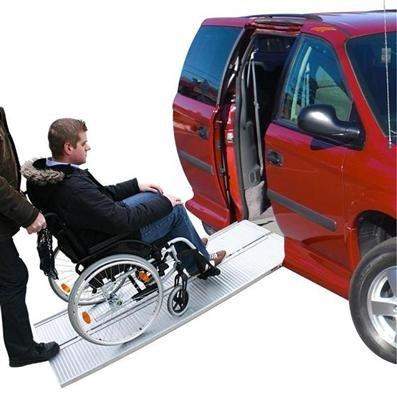 ProPlus Rollstuhl ALU Auffahrrampe Auffahrschiene Verladerampe Alurampe Rampe 270 Kg