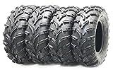 Set of 4 WANDA ATV tires 25x8-12 25x8x12 Front & 26x10-12 26x10x12 Rear 6PR P373 …