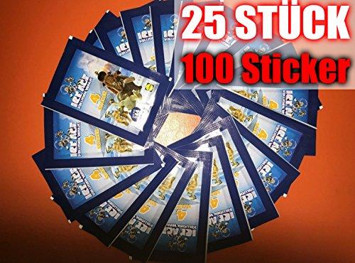 100 Sticker 25 Päkchen ICE AGE 5 LIDL 2016 Neu & OVP incl. WIZUALS STICKER