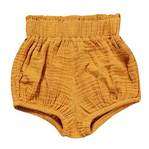 Miyanuby Neugeborenes Baby Mädchen Shorts Hose Elastische Taille Pull-on Diaper Cover Trainerhosen Bottoms