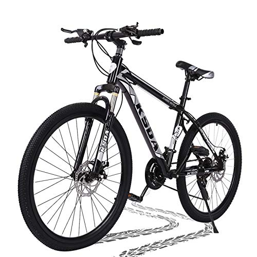 26 inch Mountain Bike for Men Women Carbon Steel Bicycle 21 Speed Bicycle Adult Mountain Bike Student Outdoors Unisex Bike Full Suspension MTB Bike for Cycling Mountain Bicycles (Black Gray)