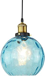 OSALADI Simple Wavy Hammered Glass Pendant Light Modern Pendant Lighting Industrial Design Glass Lamp Shade Ceiling Lighti...
